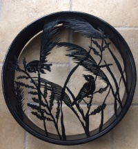 Hand Forged Metalwork Drum Wall Art by Juniper House