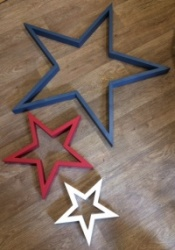 Hilly Horton Home painted ''Superhero'' signature star set