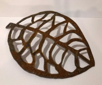 Hand forged small rustic leaf by Juniper House