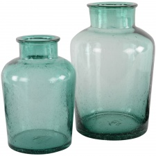 Small aqua vase by Grand Illusions