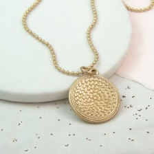 Gold plated  bobble disc necklace by Peace of Mind