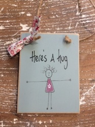 Here's A Hug Hanging Sign