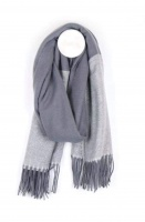 Grey/Black Herringbone Scarf by Peace of Mind