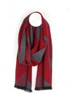 Men's Triangle Design Scarf in Red Mix by Peace of Mind