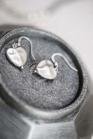 Tutti & Co Hammered Heart drop earrings