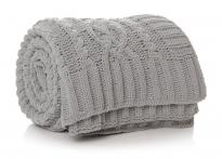 Isla Cable Throw in Dove Grey