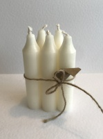 Natural Wax Ivory Candles by Casa Verde