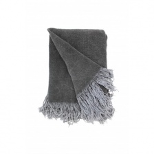 Cygnet Grey Jute Cotton Throw by Raine & Humble