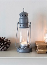 Large, Charcoal Miners Lantern by Garden Trading