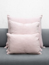 Oblong Natural Fibre Pink Cushion by ChalkUK