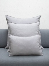 Oblong Natural Fibre Silver Cushion by ChalkUK