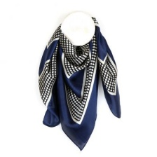 Navy & Ecru Silky Spot Scarf by Peace of Mind