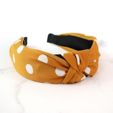 Mustard & White Polka Dot Headband by Peace of Mind