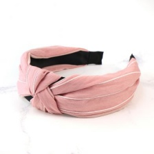 Pink & White Stripe Headband by Peace of Mind