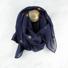 Navy & glitter star scarf by Peace of Mind.