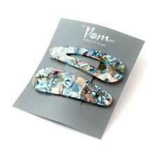 Turquoise Mix Snap Hair Clips by Peace of Mind