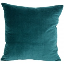 Peacock Green velvet cushion by Grand Illusions
