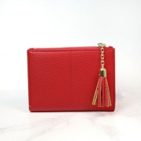 Faux Leather Compact Purse in Red by Peace of Mind