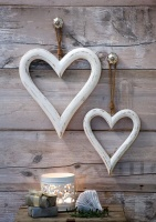 White Chunky Hanging Heart (Large) by Retreat