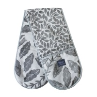 Songbird Grey Double Oven Glove by Hinchcliffe and Barber