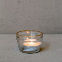 Tealight Holder with Gold Rim by Grand Illusions