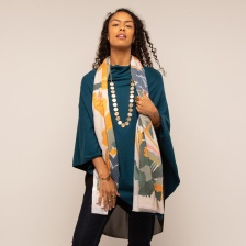 Tokyo multi abstract print scarf by Tilley & Grace