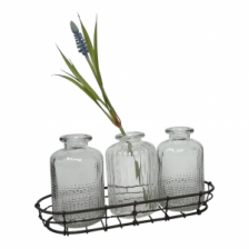 Wire Tray with Three Vases by Casa Verde