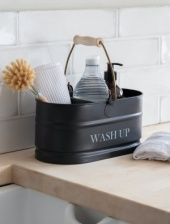 Wash Up Tidy with Handle Carbon by Garden Trading
