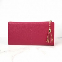 Faux Leather Purse in Pink by Peace Of Mind