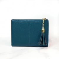 Faux Leather Compact Purse in Blue by Peace of Mind