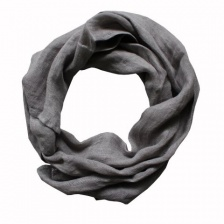 Pure dark grey linen, boxed scarf by Biggie Best