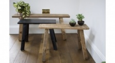 Large Natural Wood Recycled Bench by Raine & Humble