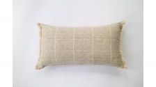Brushed WildStripe Breakfast Cushion Stone by Raine & Humble