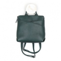 Vegan Leather Dark Teal Backpack by Peace Of Mind