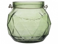 Green Glass Tealight Holder by Gusta