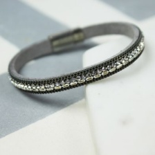 Grey single strand sparkle bracelet by Peace of Mind