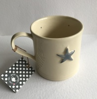 Hand Painted Grey Star Mug by ECP Design