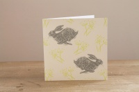 Headlong Hare, Greetings Card by Sam Wilson Studio
