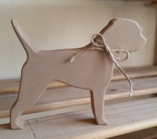 Free-standing, Border Terrier, wooden silhouette