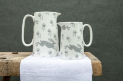 Small Running Hare Jug by Sam Wilson Studio