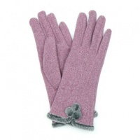 Mauve Pom-Pom Gloves by Peace Of Mind