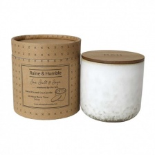 Sea Salt & Sage Soy Candle in Studio Pot by Raine & Humble