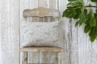Running Hare natural linen rectangular cushion by Sam Wilson Studio