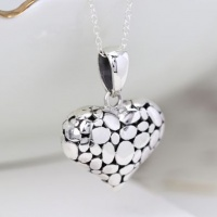 Sterling Silver Pebble Heart Pendant by Peace Of Mind