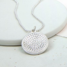 Silver plated  bobble disc necklace by Peace of Mind