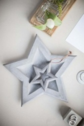 Grey Concrete Star Dish by Tutti & Co