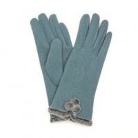 Teal Pom-pom Gloves by Peace Of Mind