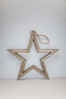 Brass hanging star by Tutti & Co