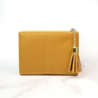 Faux Leather Compact Purse in Mustard by Peace of Mind