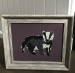 Framed Embroidery ''Badger'' by Ema Corcoran at The Hare in The Sweater